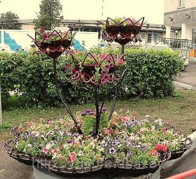 Кованые цветочница D нижн. чаши-2 м. №1
