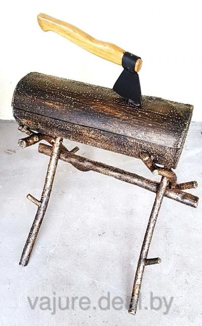 Мангал-бревно кованый №8