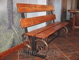 Эксклюзивные кованые скамейки №5