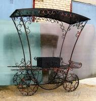 Мангал-карета с крышей №5