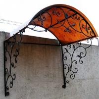 Козырьки кованые, навесы из металла, художественная ковка