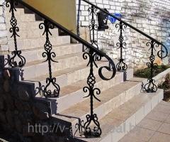 Кованые перила, поручни, винтовые лестницы
