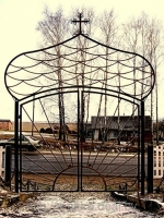 Ворота кованые; художественная ковка