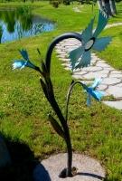 фонарь кованый стилизация цветов