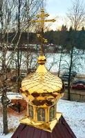 Золотая маковка церкви